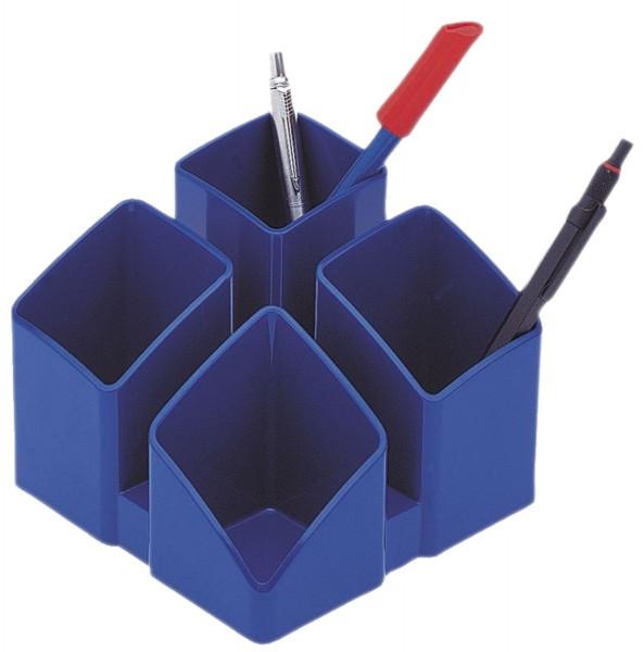 HAN Schreibtisch-Köcher SCALA - 4 Fächern, blau