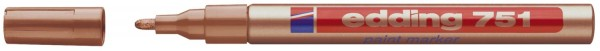 Edding 751 Glanzlack-Marker creative - 1 - 2 mm, kupfer