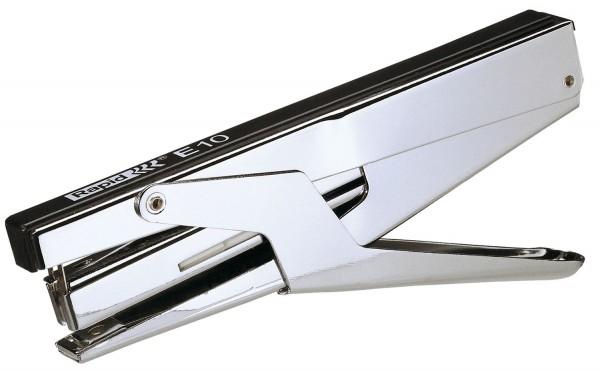 Rapid® Heftzange E10, Kunststoff/Metall, 10 Blatt, chrom