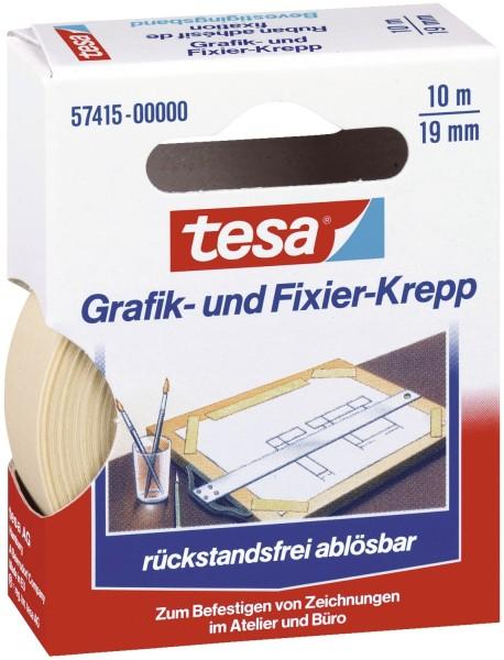 tesa® Fixierband Grafik- und Fixier-Krepp, Papier, 10 m x 19 mm, beige