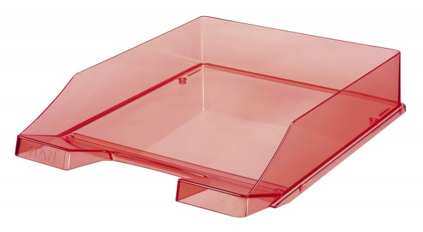 HAN Briefkorb KLASSIK A4, rot-transparent