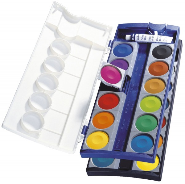 Pelikan® Deckfarbkasten 735K/12, 24 Farben + 1 Deckweiß