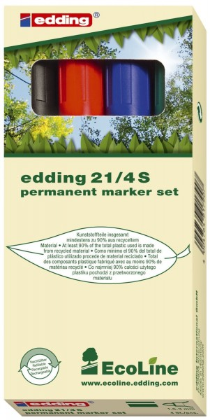 Edding 21 Permanentmarker EcoLine - nachfüllbar, 1,5 - 3 mm, sortiert