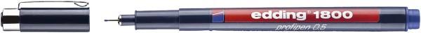 Edding 1800 Faserzeichner profipen - 0,5 mm, blau