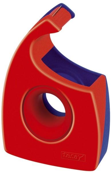 tesa® Handabroller für Klebefilm - tesa Easy Cut ®, 33 m x 19 mm, rot/blau