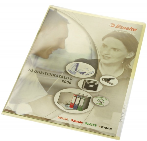 Leitz 4100 Sichthülle Premium, A4, PVC, dokumentenecht, gelb