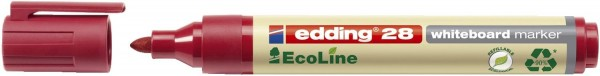 Edding 28 Boardmarker EcoLine - nachfüllbar, 1,5 - 3 mm, rot