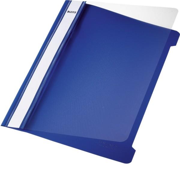 Leitz 4197 Hefter Standard, A5, langes Beschriftungsfeld, PVC, blau