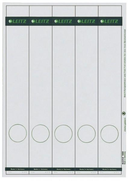 Leitz 1688 PC-beschriftbare Rückenschilder - Papier, lang/schmal, 125 Stück, grau