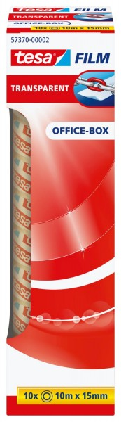 tesa® Klebefilm Office Box - transparent 10 St., Bandgröße (L x B): 10 m x 15 mm