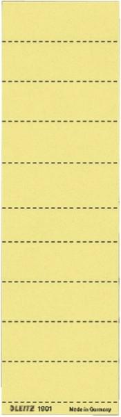 Leitz 1901 Blanko-Schildchen - Karton, 100 Stück, gelb