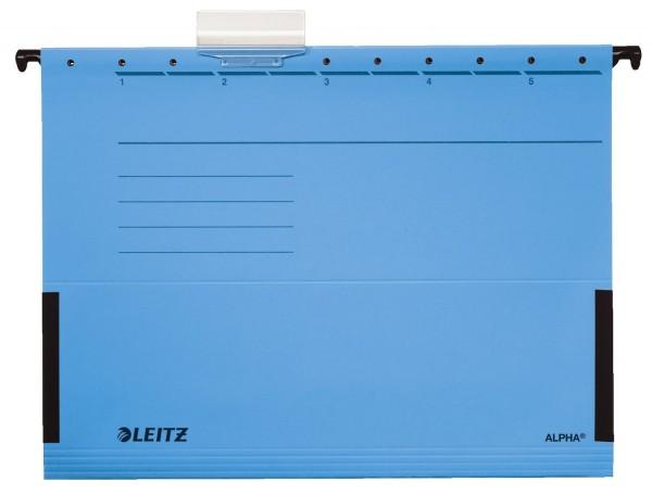 Leitz 1986 Hängetasche ALPHA® - seitlich mit Fröschen, Recyclingkarton, blau