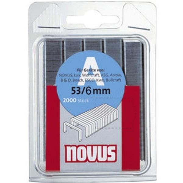 Novus® Feindrahtklammer HK53/6VZ 2000 Stück