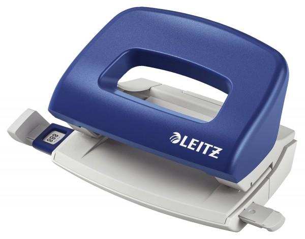 Leitz 5058 Locher Klein NeXXt, 10 Blatt, blau