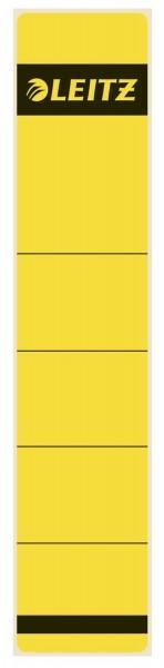 Leitz 1643 Rückenschilder - Papier, kurz/schmal, 10 Stück, gelb