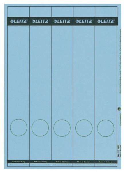 Leitz 1688 PC-beschriftbare Rückenschilder - Papier, lang/schmal, 125 Stück, blau