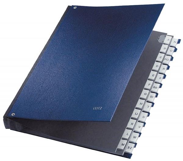 Leitz 5924 Pultordner A-Z, 24 Fächer, PP, blau