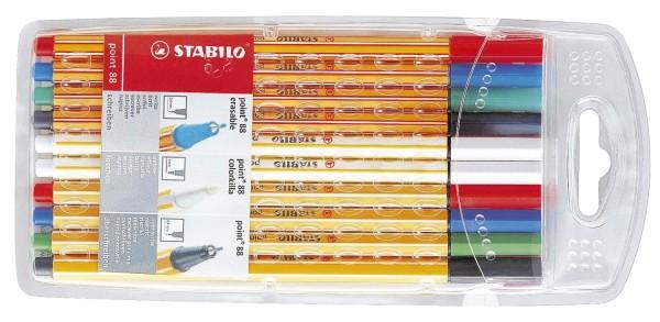 Stabilo® Fineliner und Löscher point 88® Kombi-Etui, mit 10 Stiften