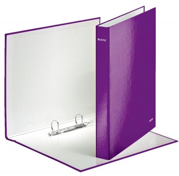 Leitz 4241 Ringbuch WOW, A4 maxi, PP, 2 Ringe Ø25 mm, violett