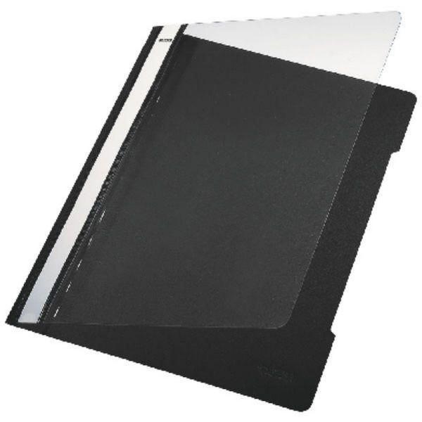 Leitz 4191 Schnellhefter - A4, langes Beschriftungsfeld, PVC, schwarz