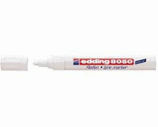 Edding 8050 Spezialmarker Reifenmarker - 2 - 4 mm, weiß