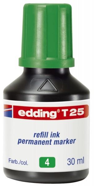 Edding T 25 Nachfülltusche für Permanentmarker, 30 ml, grün
