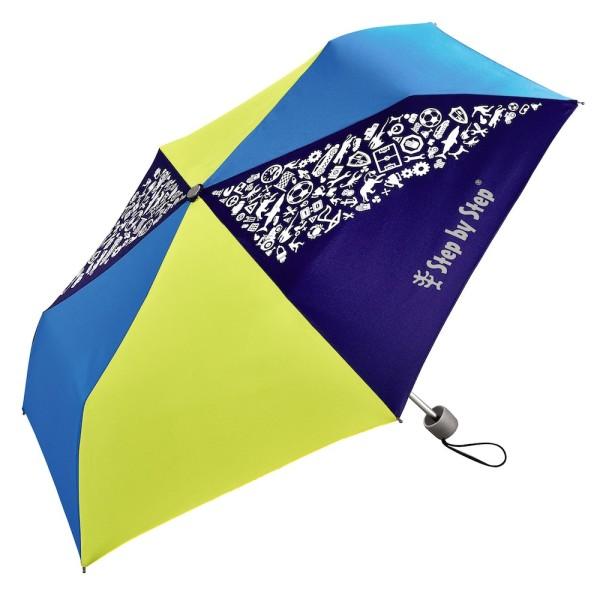 "Step by Step Regenschirm ""Blue & Yellow"", Magic Rain EFFECT"