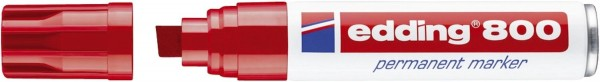 Edding 800 Permanentmarker - nachfüllbar, 4 - 12 mm, rot