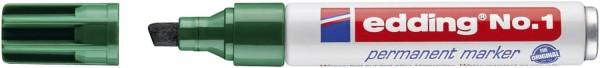 Edding No.1 Permanentmarker - nachfüllbar, 1 - 5 mm, grün