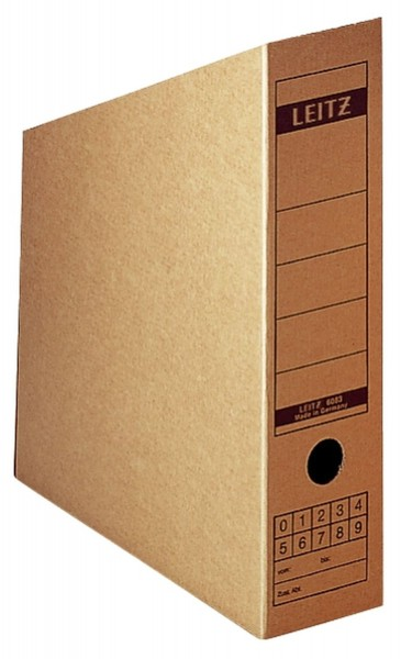 Leitz 6083 Archiv-Sammler, A4, Feinwellpappe, naturbraun