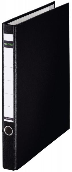 Leitz 1014 Ringordner, A4, PP, 2 Ringe, 35 mm, schwarz