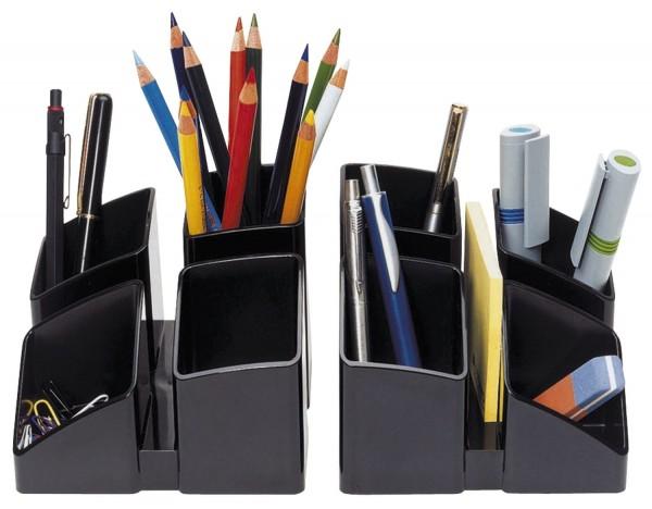HAN Schreibtisch-Köcher SCALA - 4 Fächern, schwarz