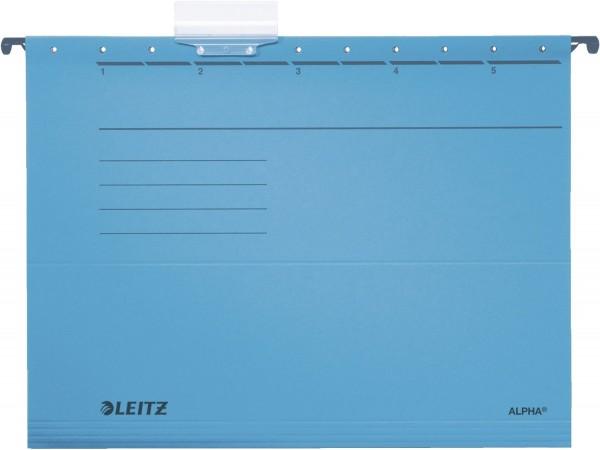 Leitz 1985 Hängemappe ALPHA® - Recyclingkarton, blau