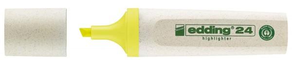 Edding 24 Textmarker Highlighter EcoLine - nachfüllbar, gelb