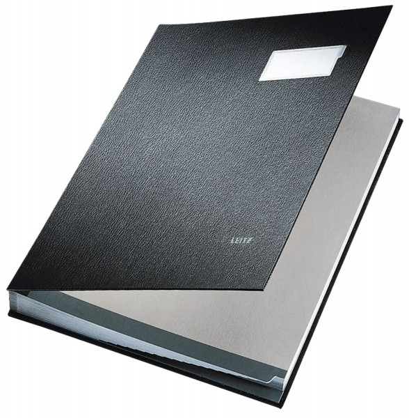 Leitz 5700 Unterschriftsmappe - 20 Fächer, PP kaschiert, schwarz