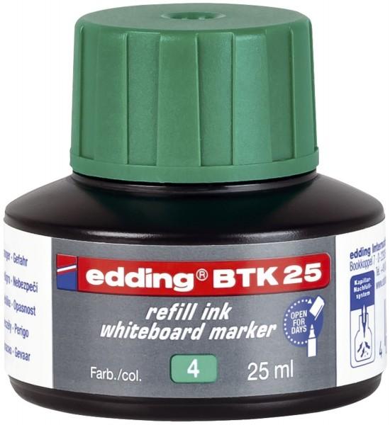 Edding BTK 25 Nachfülltusche - für Boardmarker, 25 ml, grün