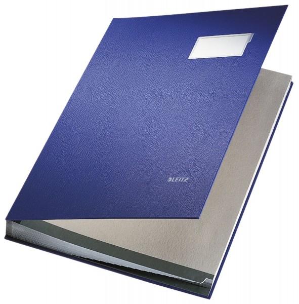 Leitz 5700 Unterschriftsmappe - 20 Fächer, PP kaschiert, blau