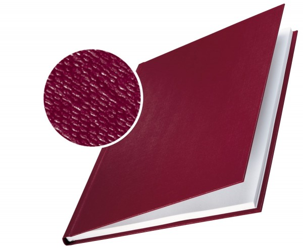 Leitz 7390 Bindemappe impressBIND - Hard Cover, A4, 3,5 mm, 10 Stück, bordeaux