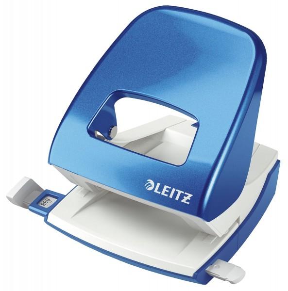 Leitz 5008 Bürolocher NeXXt, Metall, 30 Blatt, blau metallic
