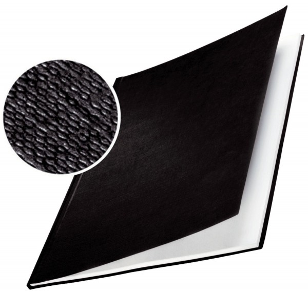 Leitz 7391 Bindemappe impressBIND - Hard Cover, A4, 7 mm, 10 Stück, schwarz