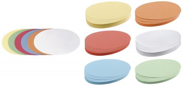 Franken Moderationskarte Oval, 190 x 110 mm, sortiert, 500 Stück