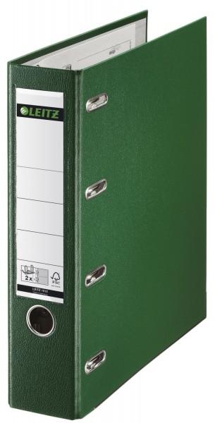 Leitz 1012 Plastik-Doppelordner - 2x A5 quer, 75 mm, grün