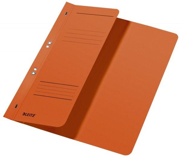 Leitz 3740 Ösenhefter, 1/2 Vorderdeckel, A4, kfm. Heftung, Manilakarton, orange
